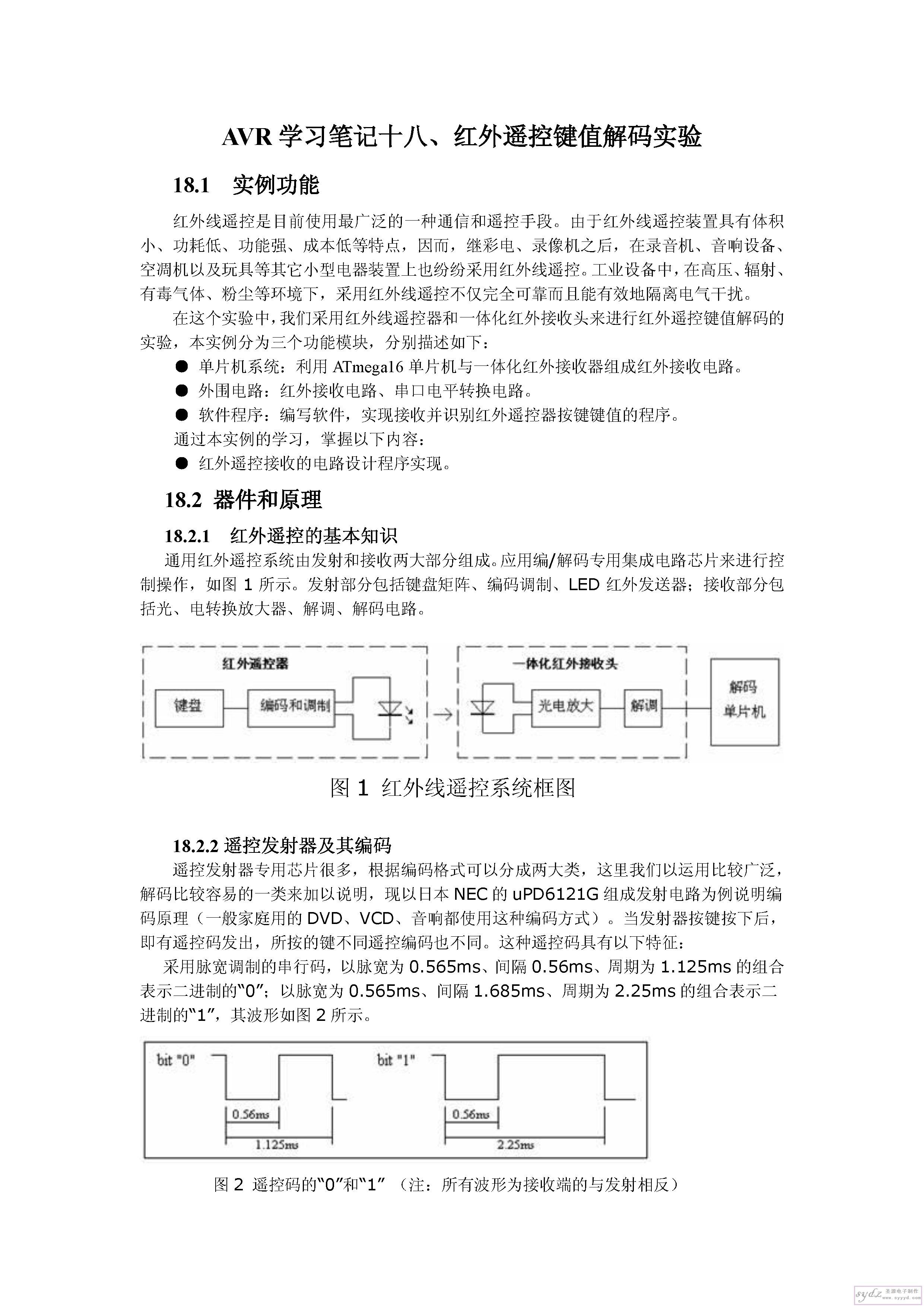 红外遥控键值解码实验  UPD6121G产生的遥控编码是连续的32位二进制码组_页面_1.jpg